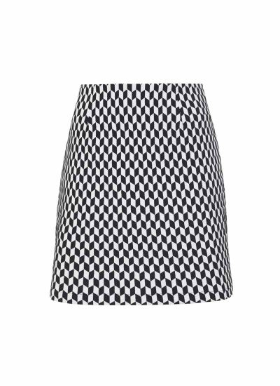 Chessie Monochrome Geometric Mini Skirt Product Front