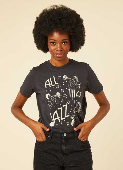 Clora All That Jazz Slogan Tee Model Front