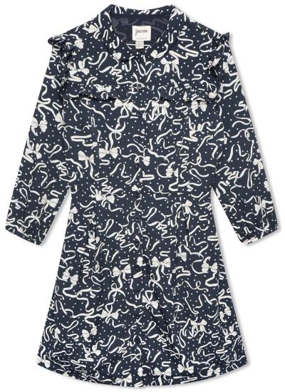 Corey Bows & Ribbons Print Shirt Dress