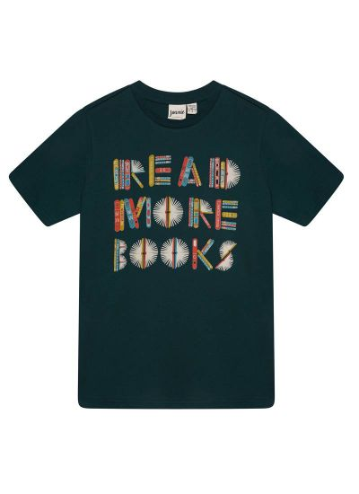 Dewey Read More Books Slogan Tee