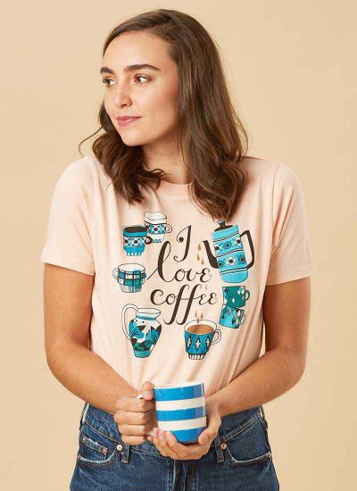 Egbert I Love Coffee Slogan Tee