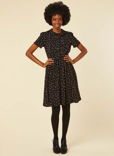 Elsie EcoVero™ Ladybird Print Tea Dress Model Front