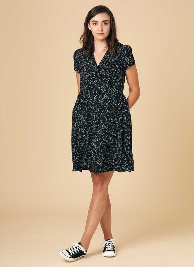 Elspeth Cat Print Tea Dress