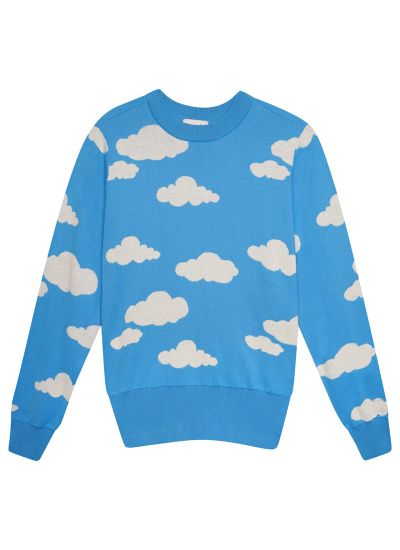 Every Cloud Intarsia Knit Jumper