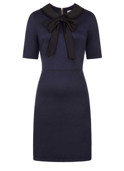 Fritha Navy & Black Collar Dress Product Front