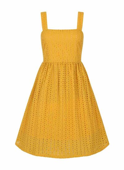 Gemma Yellow Lace Sundress Product Front
