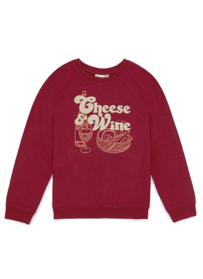 Gouda Cheese & Wine Slogan Sweatshirt Product Front
