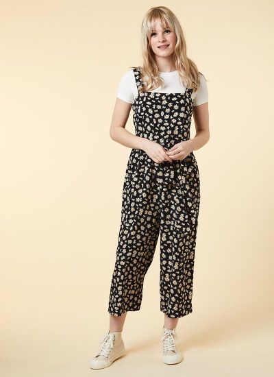 Graziana Daisy Print Jumpsuit Model Front