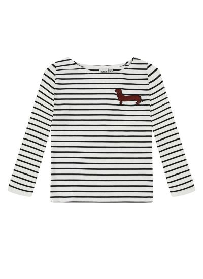 Gregg Sausage Dog Breton Stripe Top