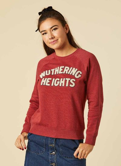 Heathcliff Wuthering Heights Slogan Sweatshirt Model Front
