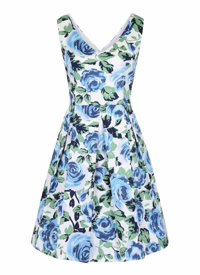 Hysteria Blue Floral Print Dress Product Front
