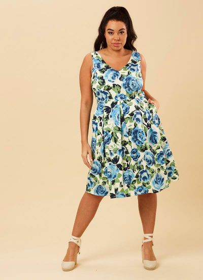 Hysteria Blue Floral Print Dress