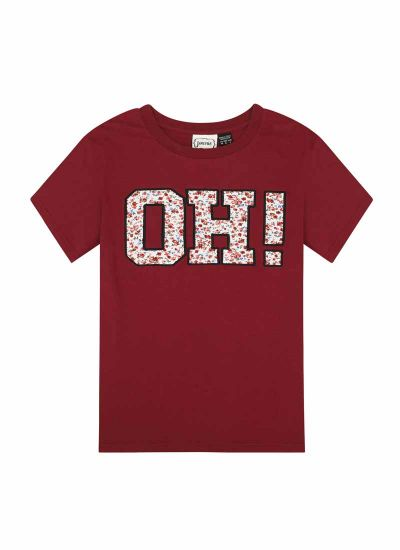 Irwin Oh! Ditsy Appliqué Slogan Tee Product Front