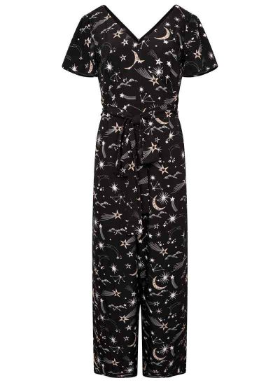 Jerry Celestial Star & Moon Print Jumpsuit