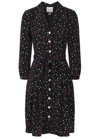 Barbara Multi Polka Dot Button-Through Dress Product Front