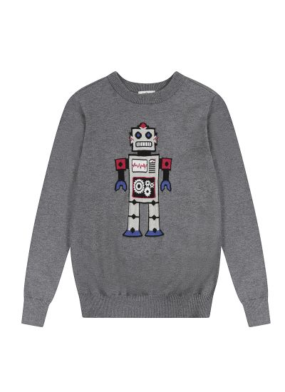 Johnny Robot Intarsia Jumper