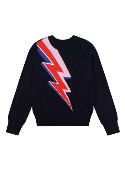 Kim Lightning Bolt Intarsia Jumper