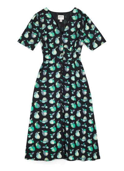 Manon EcoVero™ Fruit Print Button-Through Shirt Dress