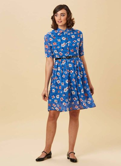 Martha Floral Print Shirt Dress