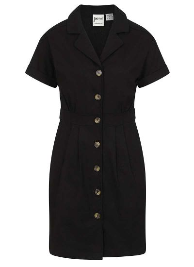 McAdams Button-Through Mini Shirt Dress