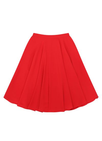 Shirley Full Circle Skirt Red Product Front