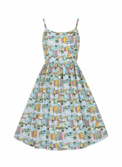 Sunday Provence Print Sundress Model Front
