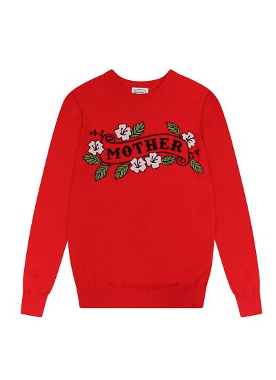 Theresa Mother Tattoo Slogan Jumper Product Front