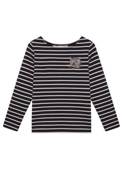 Timmy Navy Cat Breton Stripe Top Product Front