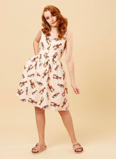 Vanda Lobster Print Dress
