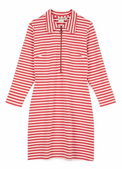 Vartan Red Stripe Polo Dress