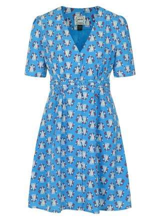Birdie Boat Print Tea Dress Product Front