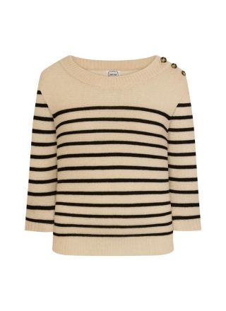 Brittany Cream Stripe Breton Jumper Product Front