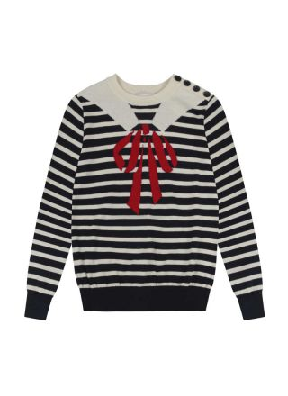 Mariner Trompe L'Oeil Sailor Collar Jumper Product Front