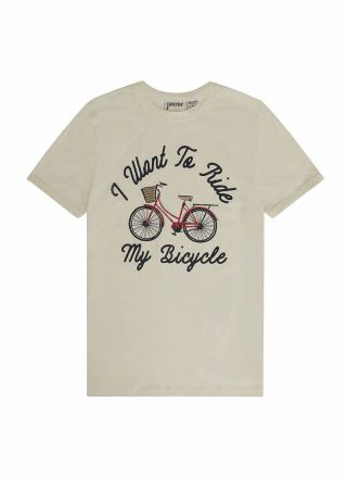 May Bicycle Slogan Tee Product Front