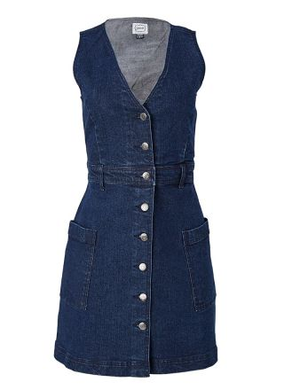 Molly Denim Pinafore Dress Product Front