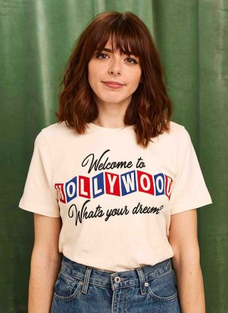 Joanie X Sophia Rosemary Mulholland Welcome To Hollywood Tee Model Full