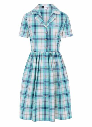 Pepper Check Shirt Dress Green Blue Product