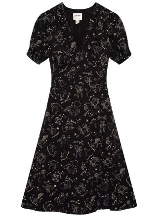 Venus Astrological Print Midi Dress Product Front