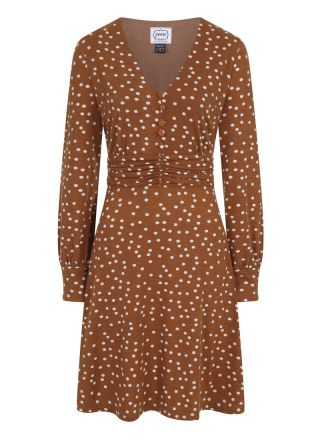 Veronica Polka Dot Jersey Dress Product Front