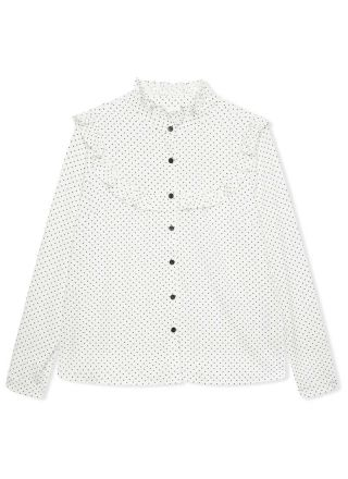 Violetta Polka Dot Frill Blouse Product Front