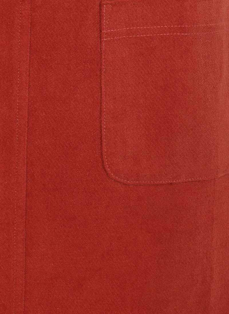Daphne Patch Pocket Pinafore Dress - Rust