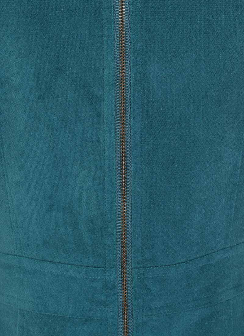 Daphne Patch Pocket Pinafore Dress - Blue