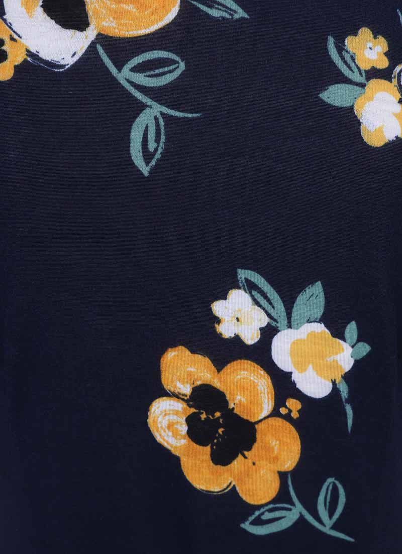 Dent Floral Print Wrap Dress