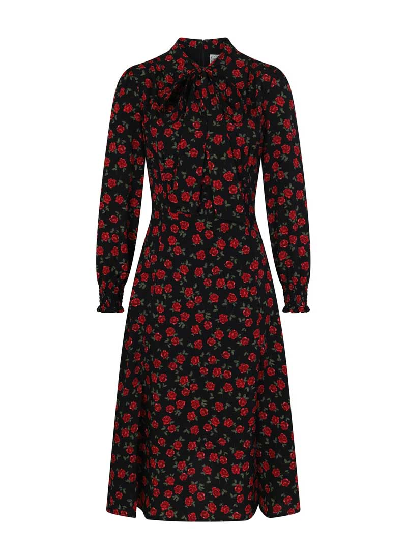 Dorothy Floral Print Midi Dress Product Front