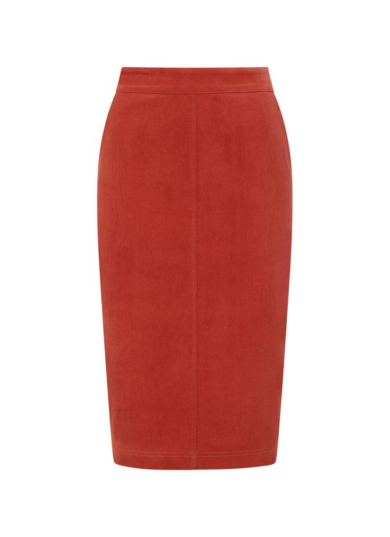 Elle Pocket Pencil Skirt Rust Product Front