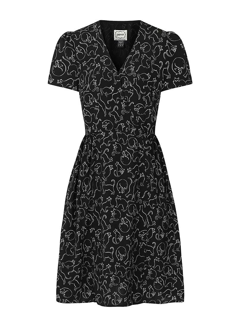 Elspeth Cat Print Tea Dress Product Front