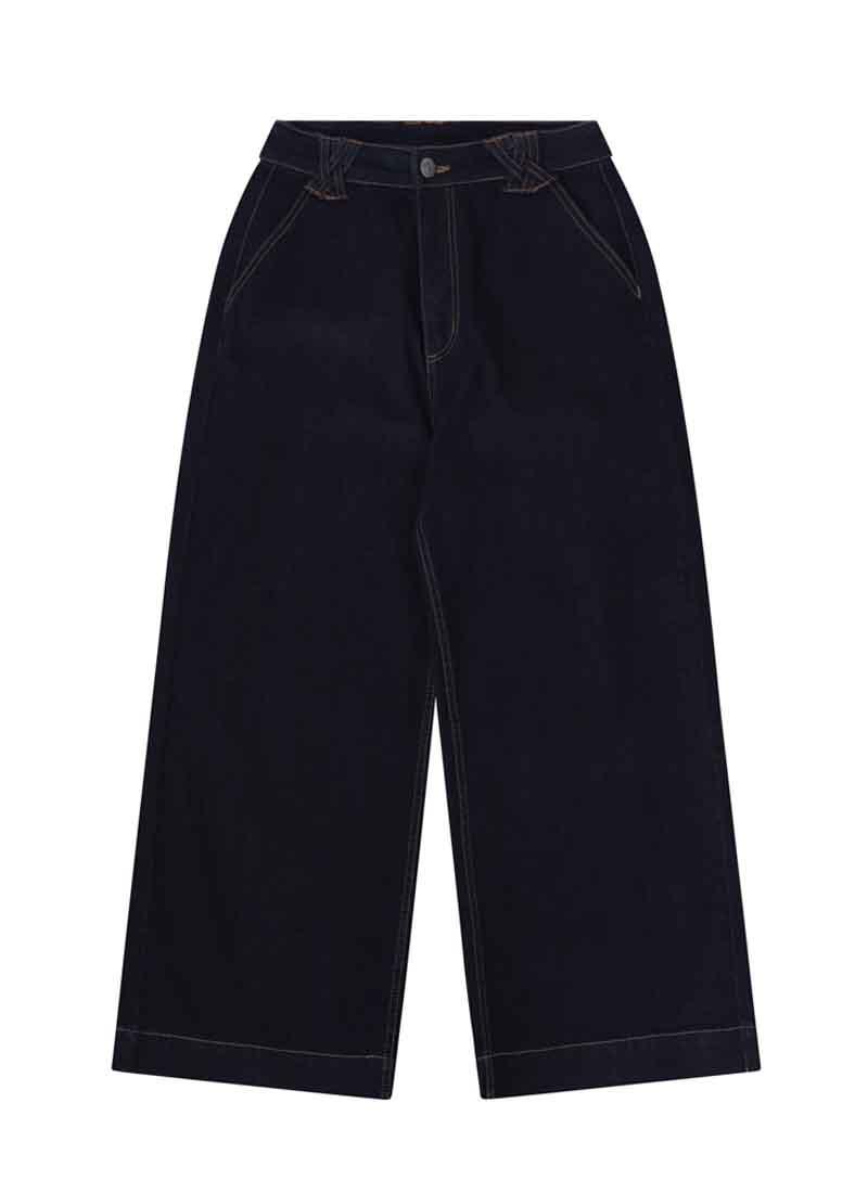 Fawcett Wide Leg Crop Jeans Product Front