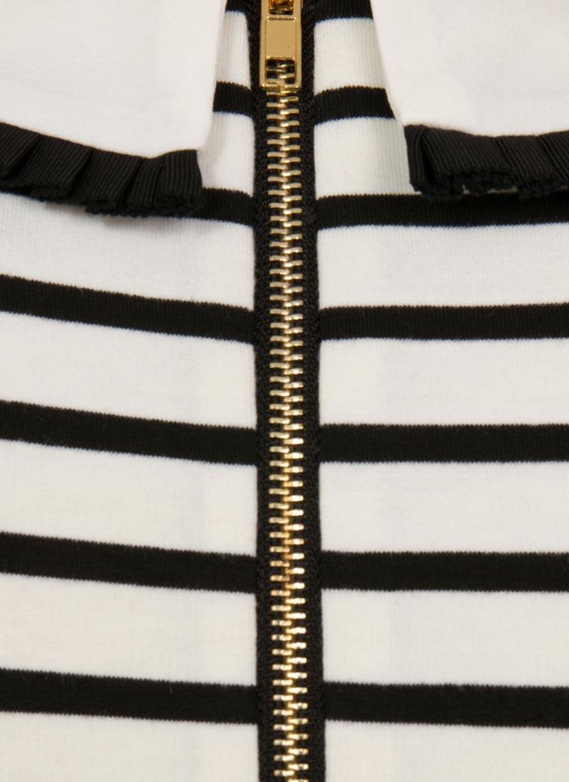 Fritha Breton Stripe Collar Dress - White