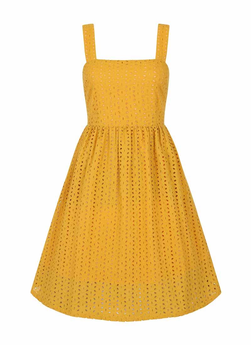 Gemma Yellow Lace Sundress Product Front