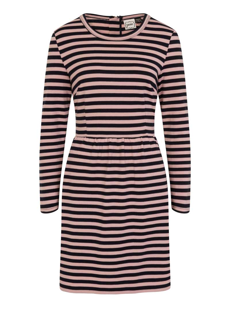 Gigi Pink Breton Stripe Dress Product Front